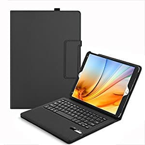 iPad Air / iPad Air 2 / iPad Pro 9.7 Universal Bluetooth Keyboard + Leather Case $19.49