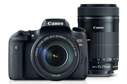 Canon T6s DSLR w/ 18-135mm & 55-250mm IS STM Lenses (Refurb) $709.99