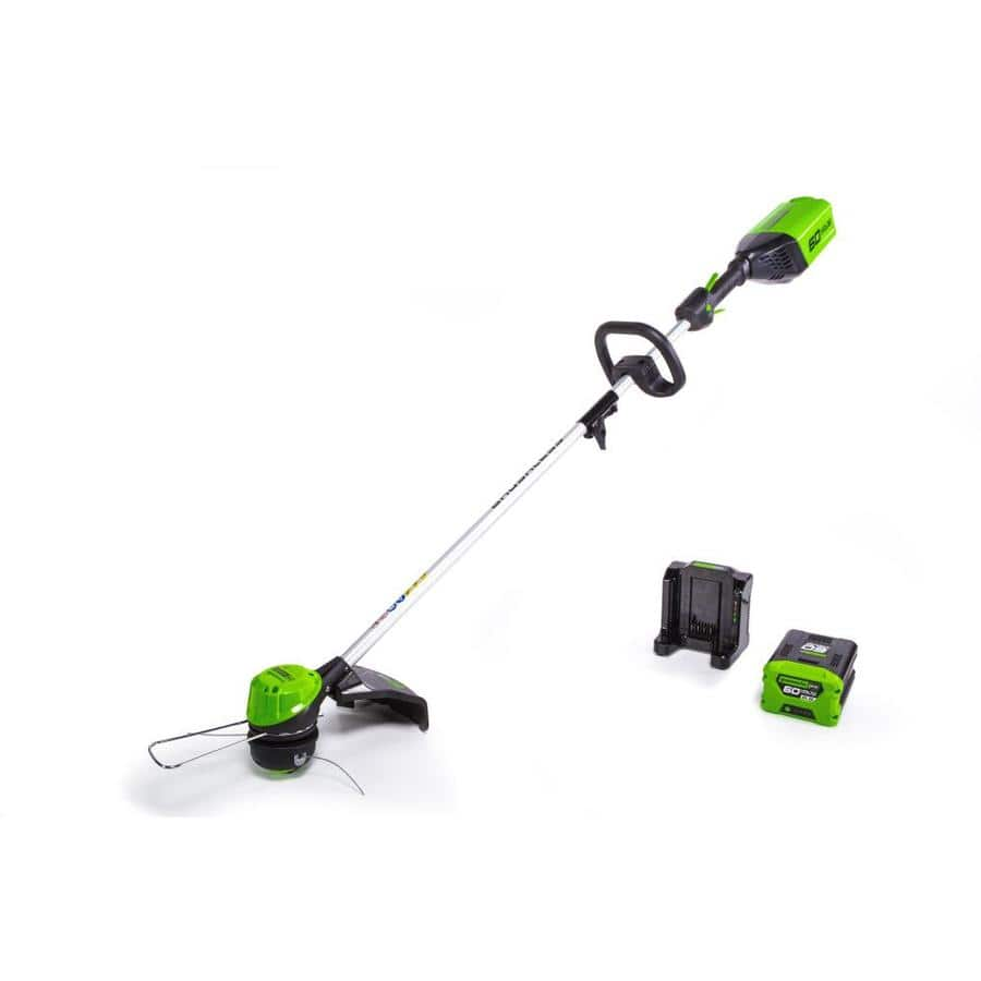 Greenworks Pro 60V trimmer w/batt and chrgr Lowe's clearance $68