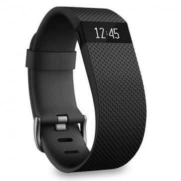 Refurbished Fitbit charge HR Heart Rate + Activity Wristband w/PurePulse Heart Rate Track in (Large) Black