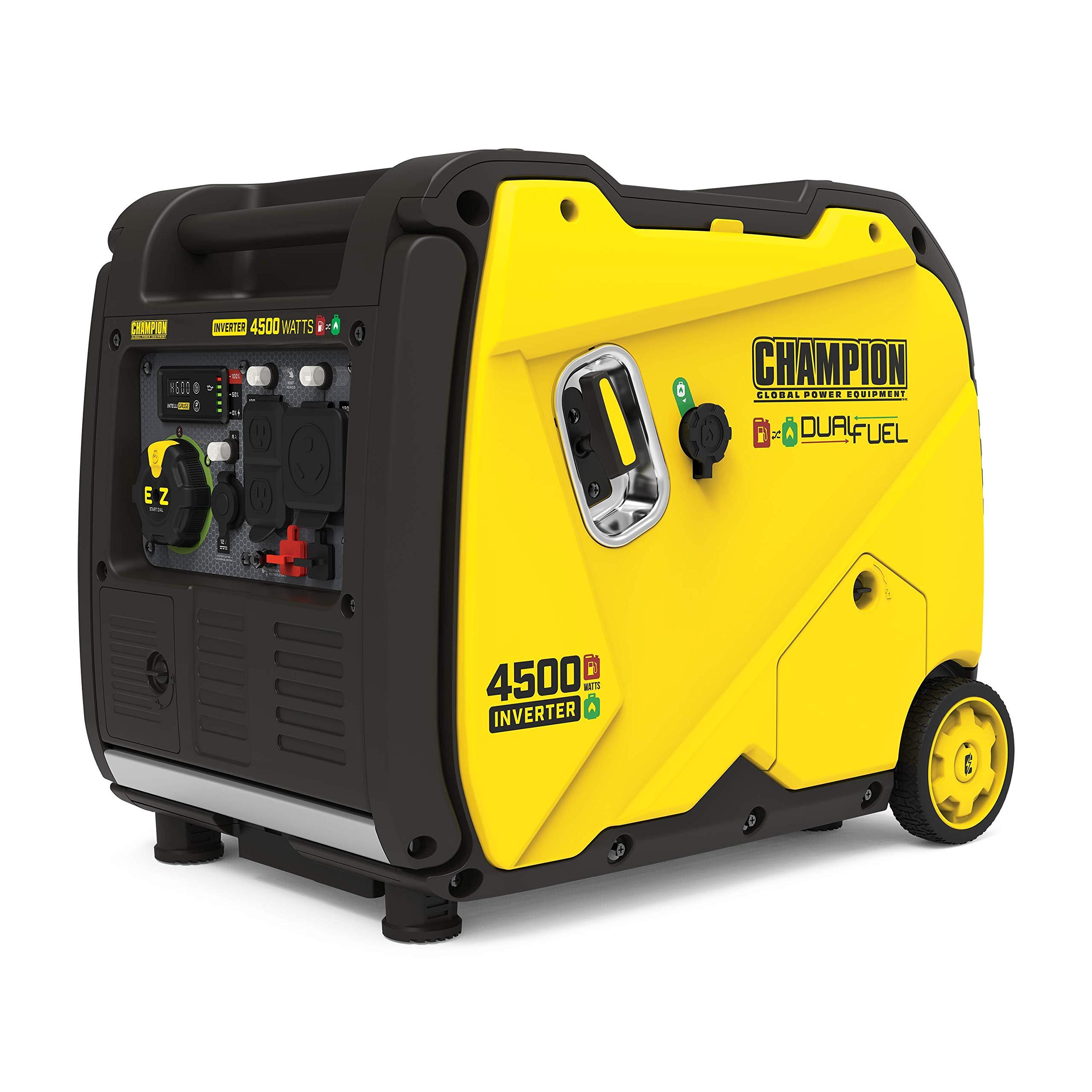 Champion Power Equipment 200988 4500-Watt Dual Fuel Portable Inverter Generator, Electric Start $816.20 + Free Shipping