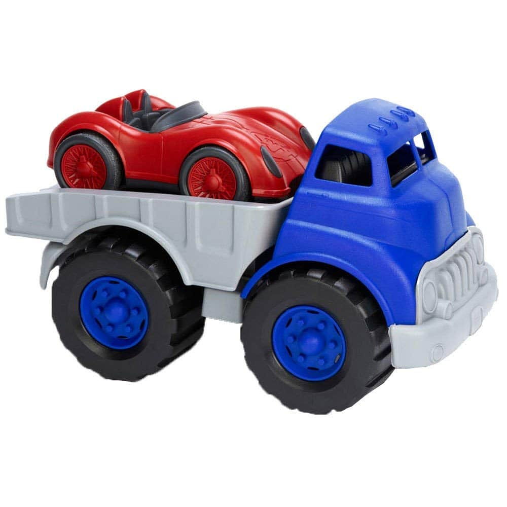 Green Toys Flat Bed Truck & Race Car $12.93