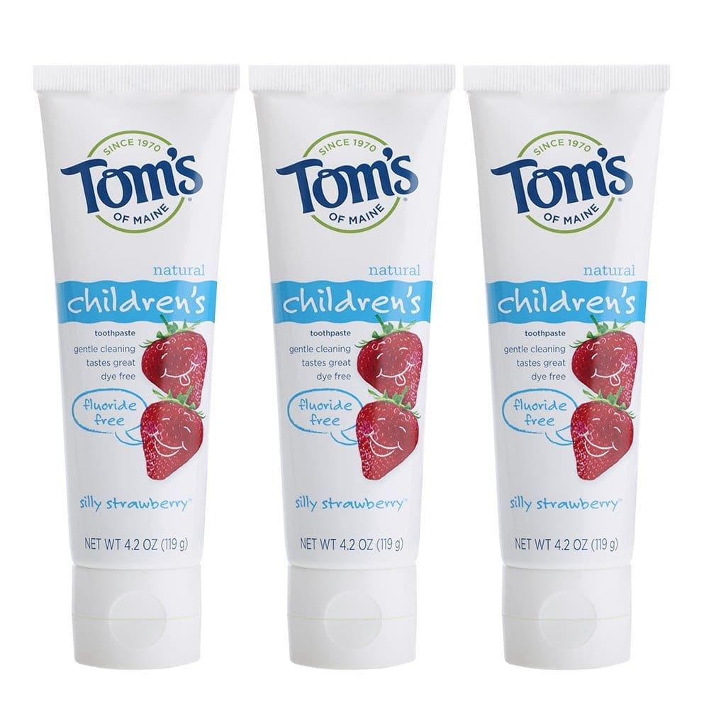Tom's of Maine Fluoride-Free Children's Toothpaste, Kids Toothpaste, Natural Toothpaste, Silly Strawberry, 4.2 Ounce, Pack of 3 $5.29