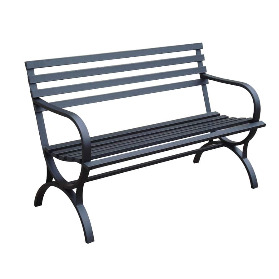 "Lowes Modern Steel-Frame Patio 49"" Bench (4 stars review) $63 Store Pickup"
