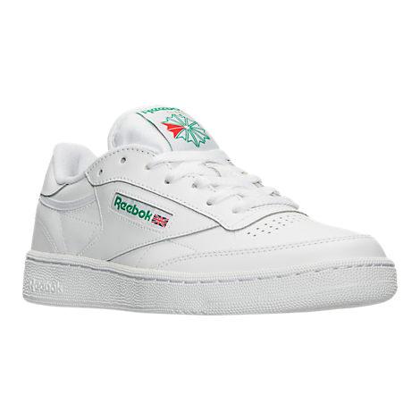 Men's Reebok Club C 85 Casual Shoes White/Green $29.98 SIZES 8-9