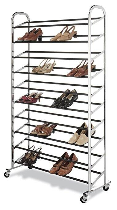 Whitmor 50 Pair Rolling Shoe Rack, Chrome $26 + FS/Prime @ Amazon.com