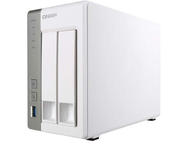 QNAP TS-231P-US 2-bay Personal Cloud NAS with DLNA $109 AC + free shipping