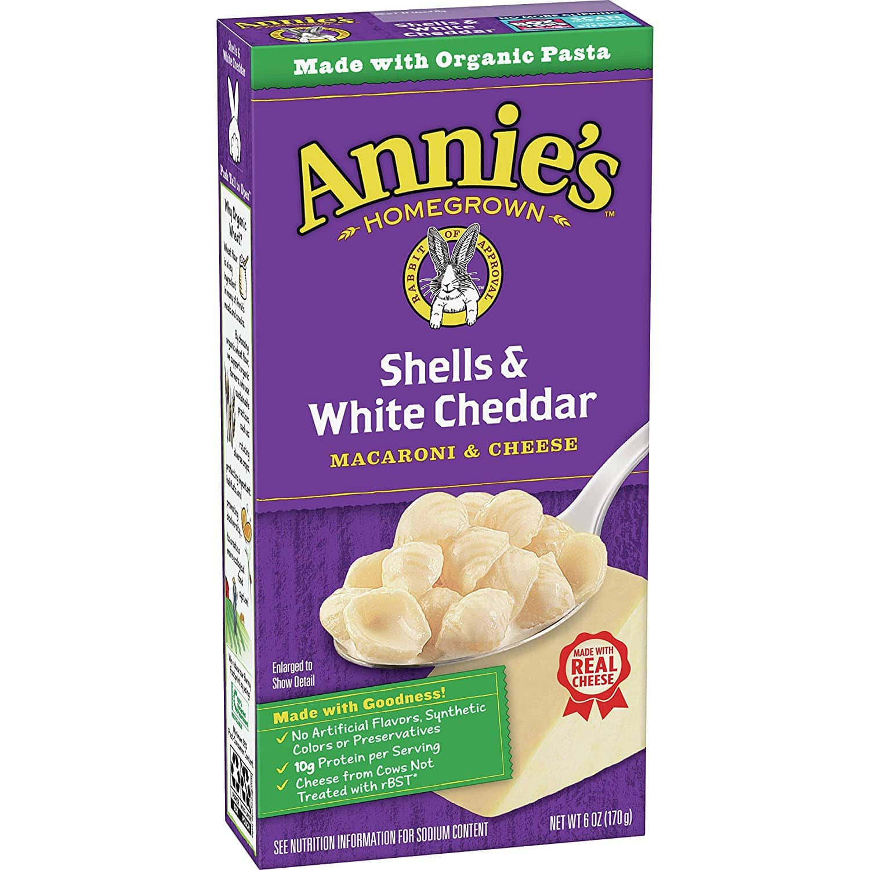 12-Pack Annie's Shells & White Cheddar Macaroni and Cheese 6 oz $11.60 w/ S&S FSSS