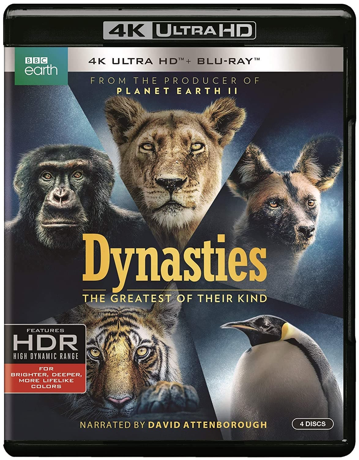 BBC Earth: Dynasties (4K UHD + Blu-Ray) $12.99 FSSS