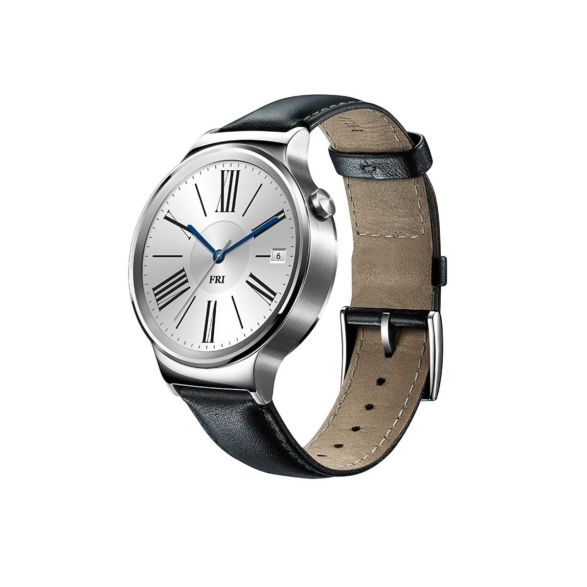 Huawei Smartwatch 42mm Stainless Steel w/ Black Leather Band (Refurbished) $154.99 & More + Free Shipping @ Newegg