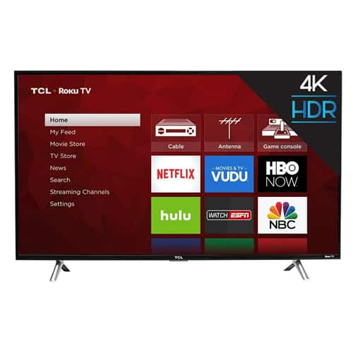 "43"" TCL 43S405 4K UHD HDR Roku Smart LED HDTV $299.99 AC w/ Paypal Checkout + Free Shipping @ eBay"