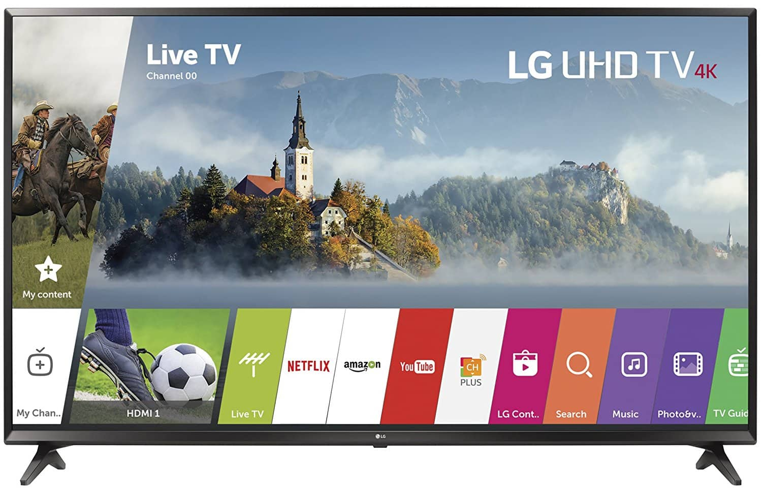 "43"" LG 43UJ6300 4K UHD HDR Smart LED HDTV (2017) $299.99 & More + Free Shipping @ BJ's"