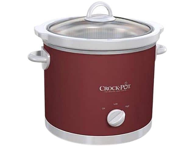 Crock-Pot 3-Qt. Manual Slow Cooker (Red) $7.99 + Free Shipping @ Newegg