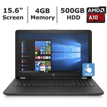 "HP 15.6"" Touchscreen Laptop: A10-9620P, 4GB DDR3, 500GB HDD, Radeon R5, DVDRW, Win 10 $299.99 + Free Shipping @ BJ's"
