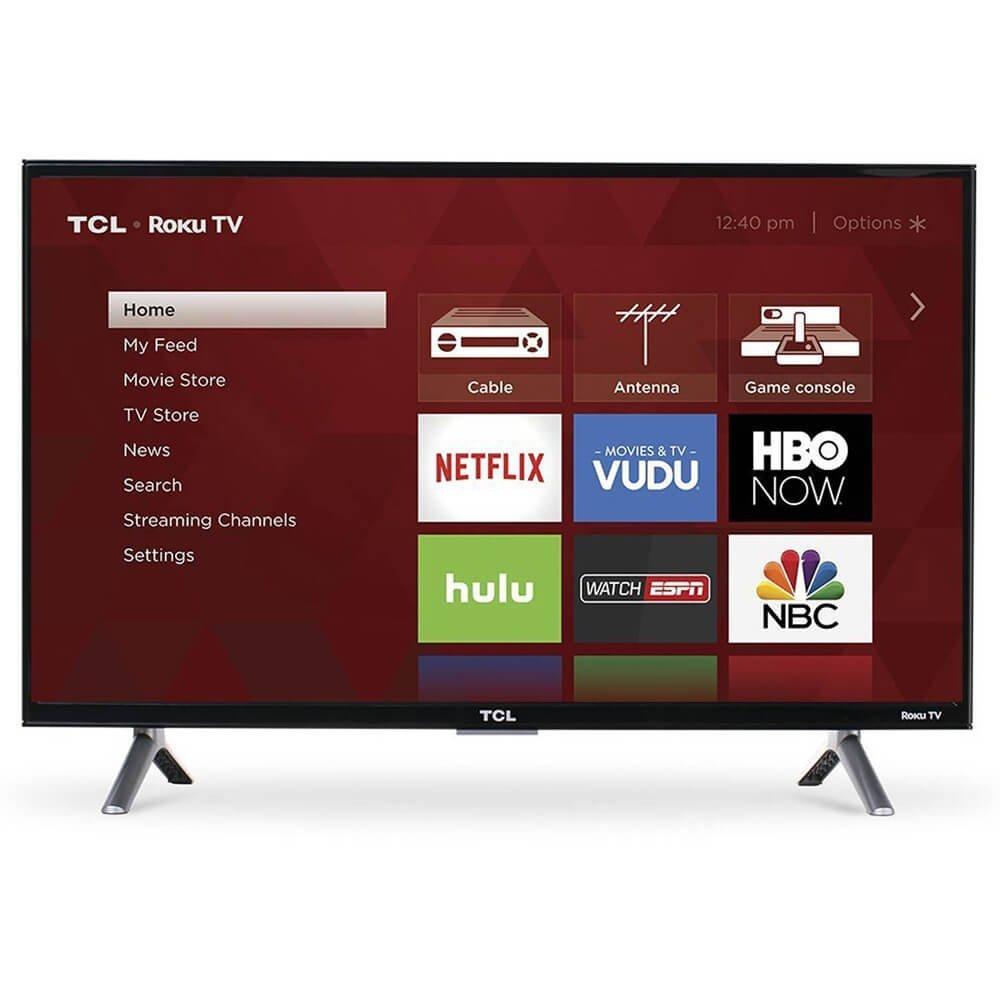 "55"" TCL 55S405 4K UHD HDR Roku Smart LED HDTV $319.99 AC + Free Shipping @ Rakuten"