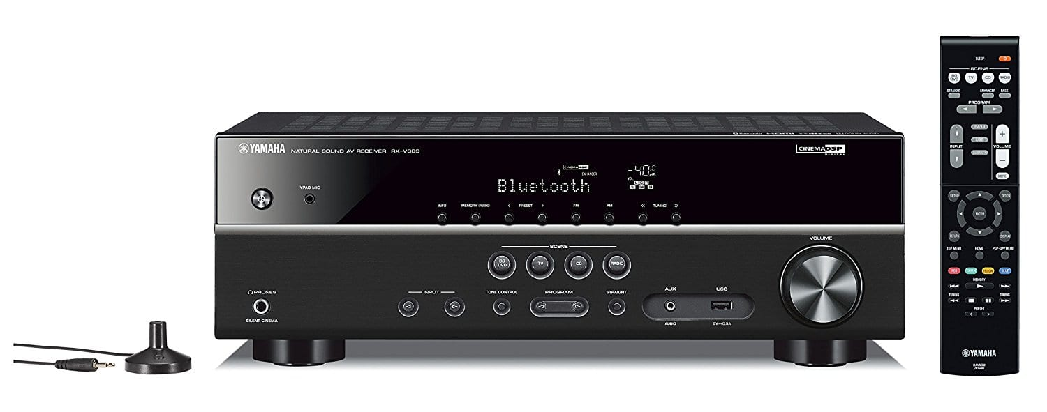 Yamaha RX-V383BL 5.1-Channel 4K Ultra HD AV Receiver w/ Bluetooth $219.99 & More + Free Shipping @ Amazon