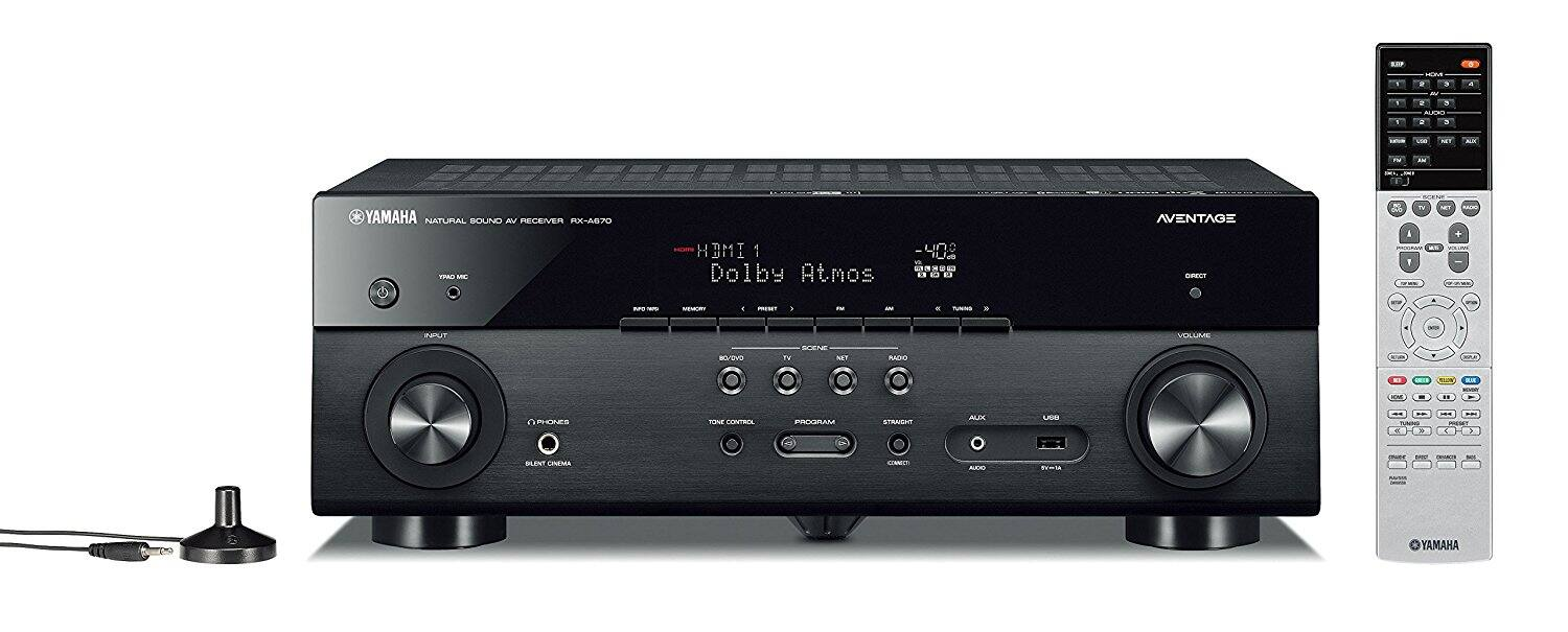 Yamaha AVENTAGE RX-A670BL 7.2-Ch 4K Ultra HD A/V Receiver $349.98 + Free Shipping @ Best Buy