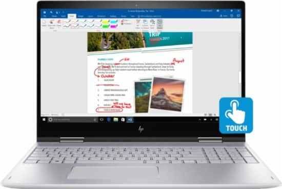 "HP Envy x360 2-in-1 Laptop: Intel Core i5-8250U, 15.6"" 1080p  IPS Touchscreen, 12GB DDR3, 1TB HDD, Type-C, Win 10 $599.99 + Free Shipping @ Best Buy"