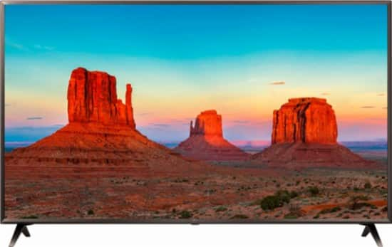 "50"" LG 50UK6300BUB 4K UHD HDR AI ThinQ Smart LED HDTV w/ Google Assistant (2018) $399.99 + Free Shipping @ Best Buy"