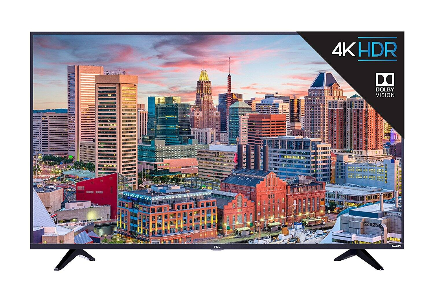 "55"" TCL 55S517 4K UHD HDR Roku Smart LED HDTV w/ Dolby Vision (2018) $399.99 + Free Shipping @ eBay"