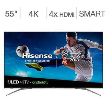 """55"""" Hisense 55H9050E Plus 4K UHD HDR Dolby Vision 120Hz Android Smart LED HDTV (2018) $549.99 & More + Free Shipping @ Costco"""