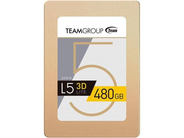 """480GB Team Group L5 Lite 3D 2.5"""" Solid State Drive SSD $84.99 + Free Shipping @ Newegg"""