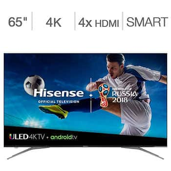 """65"""" Hisense 65H9050E Plus H9 Series 4K UHD HDR Dolby Vision 120Hz Android Smart LED HDTV (2018) $749.99 & More + Free Shipping @ Costco"""