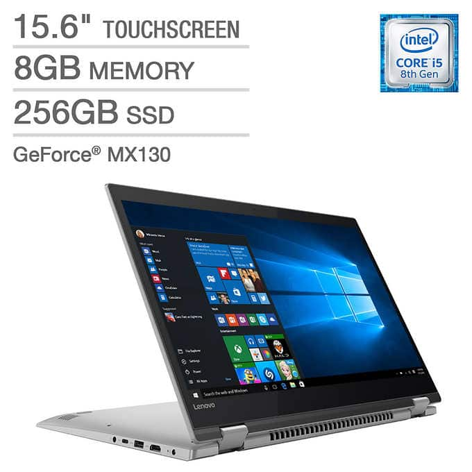 "Lenovo Flex 5 2-in-1 Laptop: Intel Core i5-8250U, 15.6"" 1080p IPS Touchscreen, 8GB DDR4, 256GB SSD, MX130, Type-C, Stylus, Win 10 $599.99 + Store Pickup @ Costco"