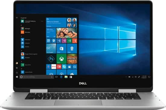"""Dell Inspiron 7586 2-in-1 Laptop: Intel Core i5-8265U, 15.6"""" 1080p IPS Touchscreen, 8GB DDR4, 256GB SSD, Type-C, Win 10 $629.99 & More @ Best Buy"""