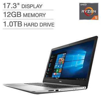 "Dell Inspiron 17 5000 Laptop: Ryzen 5 2500U, 17.3"" 1080p, 12GB DDR4, 1TB HDD, Vega 8, Win 10 $549.99 + Shipping @ Costco"