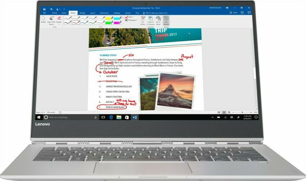 "Lenovo Yoga 920 2-in-1 Laptop: Intel Core i7-8550U, 13.9"" 1080p IPS Touchscreen, 8GB DDR4, 256GB SSD, Thunderbolt 3, Win 10 $789.65 + Free Shipping @ eBay"
