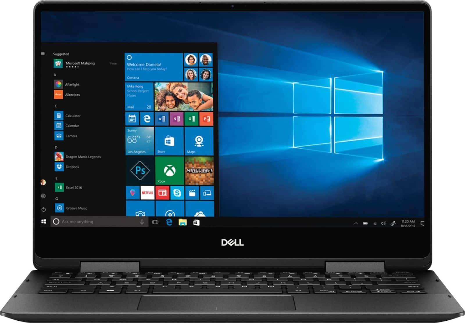 "Dell Inspiron 7000 2-in-1 Laptop: Intel Core i7-8565U, 13.3"" 4K IPS Touchscreen, 16GB DDR4, 256GB SSD, Type-C, Win 10 $799.99 + Free Shipping @ Best Buy"