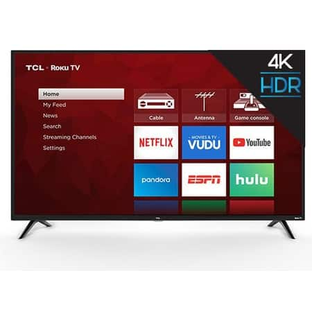 TCL S421 4K UHD HDR Roku Smart LED HDTVs (Refurbished): 55