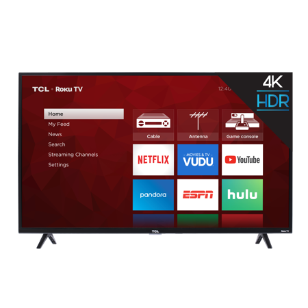 "43"" TCL 43S421 4K UHD HDR Roku Smart LED HDTV (Refurbished) $159.99 & More + Free Shipping @ Walmart"