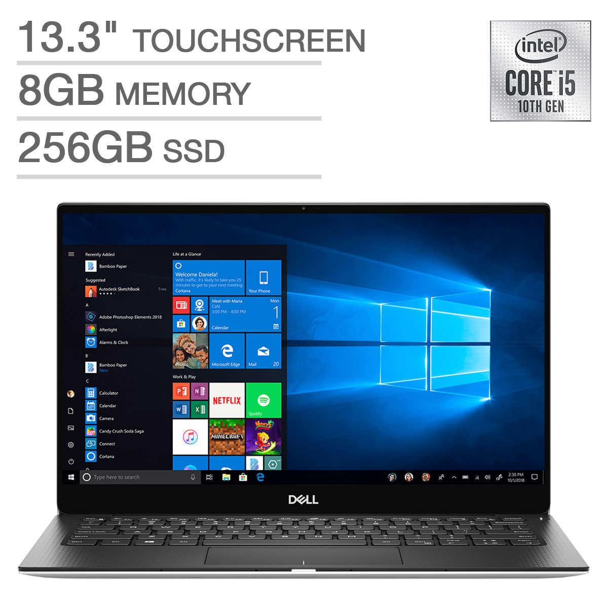"Dell XPS 13 7390 Laptop: Intel Core i5-10210U, 13.3"" 1080p Touchscreen, 8GB DDR3, 256GB SSD, Thunderbolt 3, Win 10 $949.99 + Shipping @ Costco"