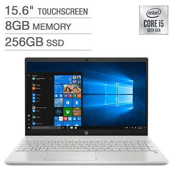 "HP Pavilion Laptop: Intel Core i5-1035G1, 15.6"" 1080p IPS Touchscreen, 8GB DDR4, 256GB SSD, Win 10 $479.99 + Shipping @ Costco"