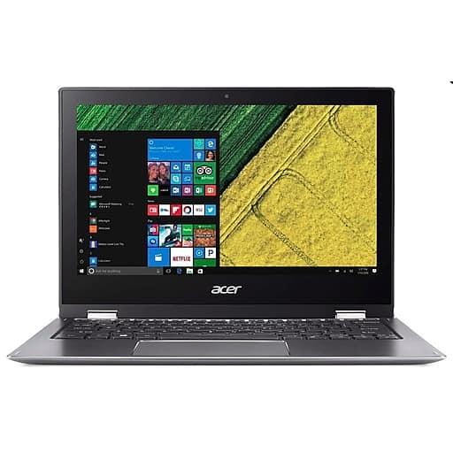 """Acer Spin 1 2-in-1 Laptop: Intel Pentium N4200, 11.6"""" 1080p IPS Touchscreen, 4GB DDR3, 64GB eMMC, Win 10 S (Refurbished) $159.99 AC + Free Shipping @ Staples"""