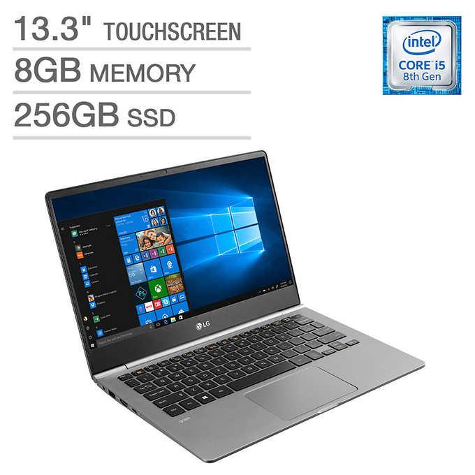 "LG Gram Laptop: Intel Core i5-8265U, 13.3"" 1080p IPS Touchscreen, 8GB DDR4, 256GB SSD, Type-C, Win 10 $699.99 + Shipping @ Costco"