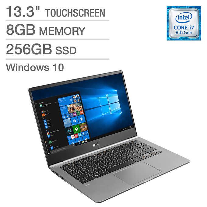 "LG Gram Laptop: Intel Core i7-8550U, 13.3"" 1080p IPS Touchscreen, 8GB DDR4, 256GB SSD, Type-C, Win 10 $699.99 + Shipping @ Costco"