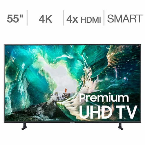 "55"" Samsung UN55RU800D 8 Series 4K UHD HDR Smart LED HDTV (2019 Model) $499.99 + Free Delivery @ Costco"