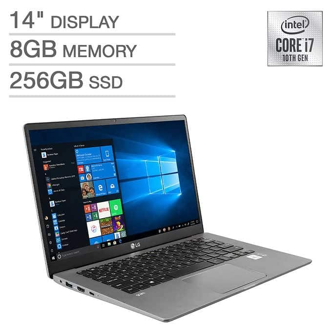 "LG Gram Laptop: Intel Core i7-1065G7, 14"" 1080p IPS, 8GB DDR4, 256GB SSD, Type-C, Win 10 $999.99 + Shipping @ Costco"
