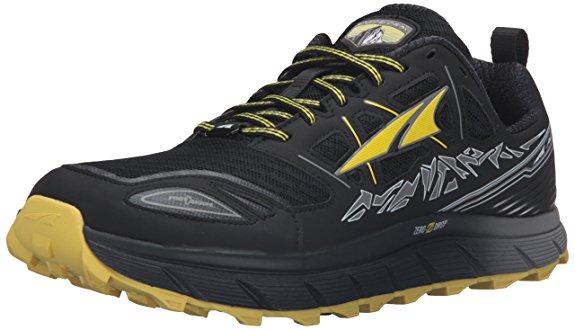 Altra Men's Lone Peak 3 Running Shoe [Black/Yellow, 9 D(M) US] $62.99