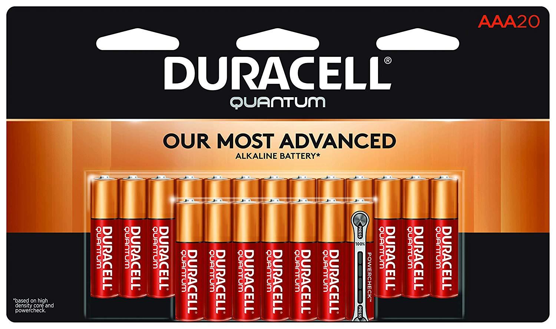 Duracell Quantum Alkaline Batteries AAA 20 pack $9.70