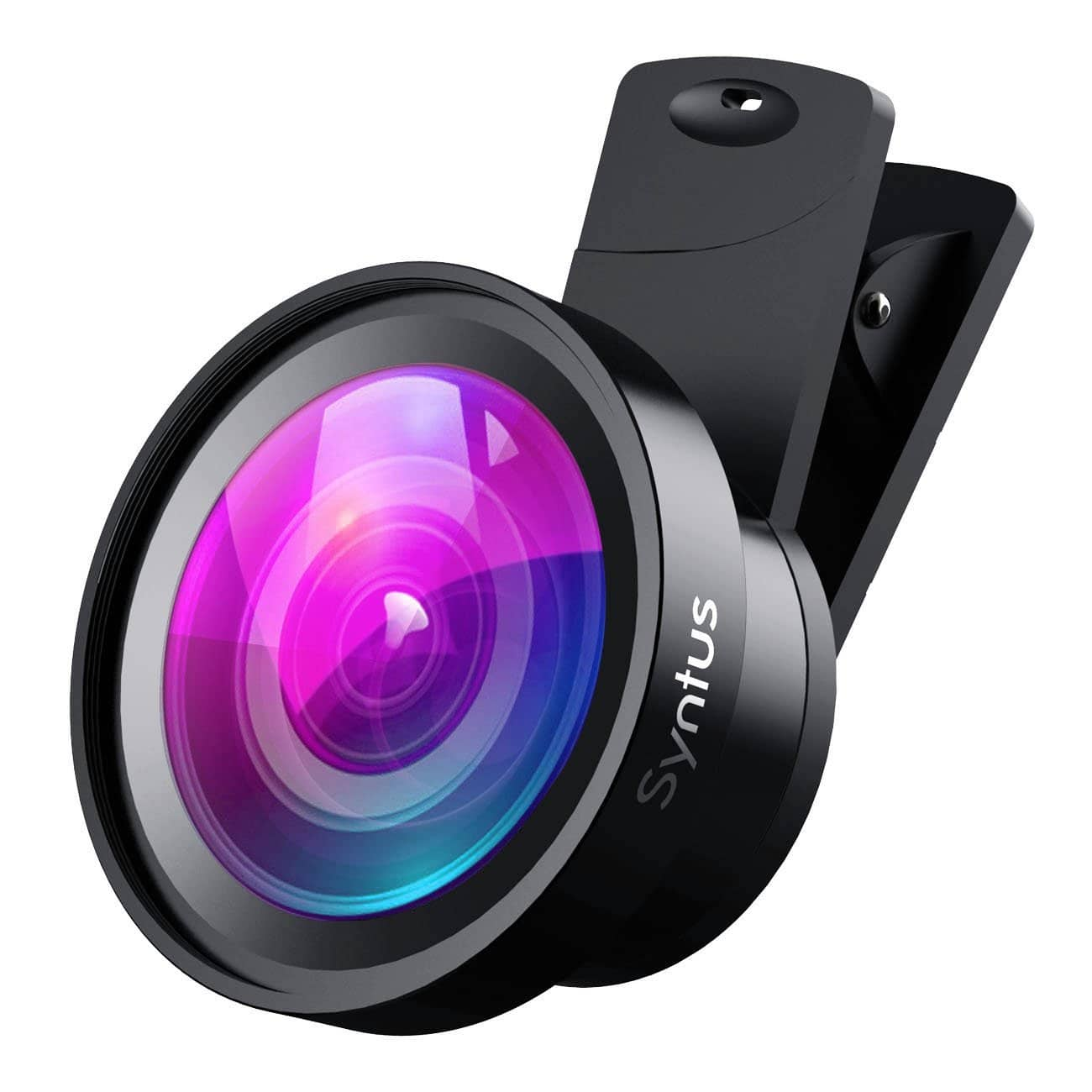 Syntus 0.45X Wide Lens and 12.5X Macro Lens Attachment Clip-on Cell Phone Camera Lenses Kit $8.05