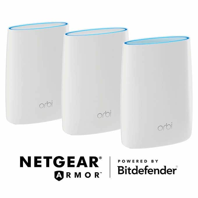 Netgear Orbi Whole Home Mesh Wi-Fi System with Advanced Cyber Threat Protection, 3-pack $319.99
