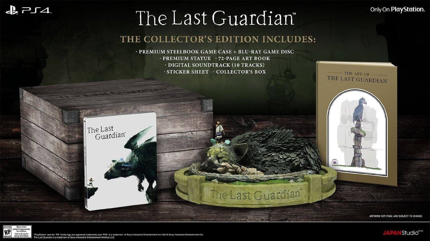 The Last Guardian - Collector's Edition - PlayStation 4 - Preorder $119.99 @ Amazon