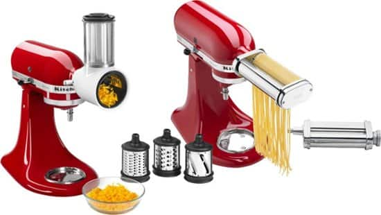 KitchenAid - Pasta Cutter and Fresh Prep Attachment Bundle - White/Metal $99.99