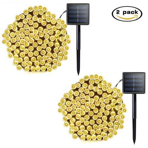 Lalapao 2 Pack Solar Christmas Lights (Warm White) $9.49 (50% off)