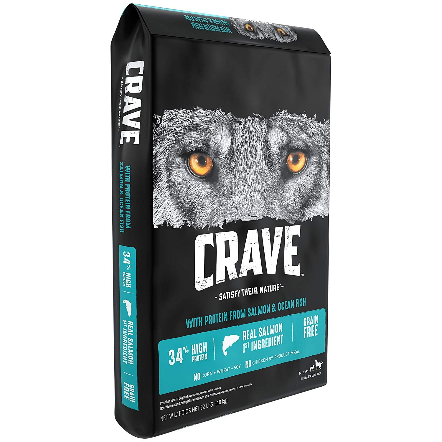 22 lb Crave Adult Dry Dog Food With Protein, Salmon & Ocean Fish, $27.99