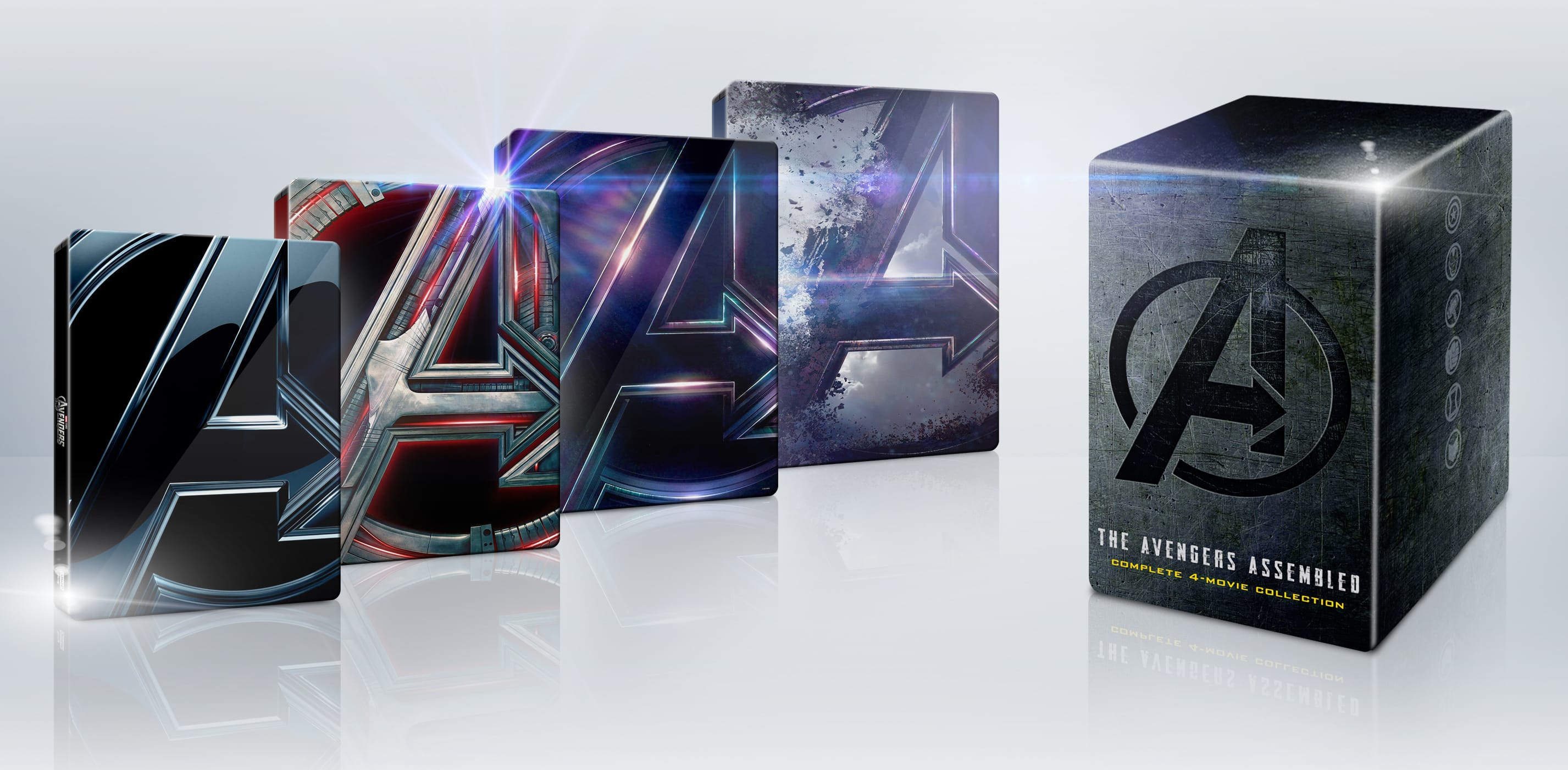 Avengers 4-Movie Collection [SteelBook] [Dig Copy] [4K Ultra HD Blu-ray/Blu-ray] [Only @ Best Buy] $119.99